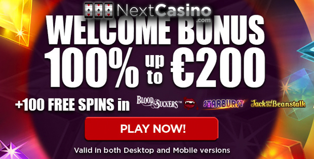 NextCasino Welcome Bonus